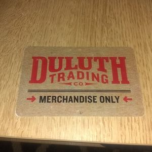 Duluth trading company merchandise card